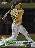 2018 Topps Chrome #190 Matt Chapman Oakland Athletics Baseball Card - GOTBASEBALLCARDS