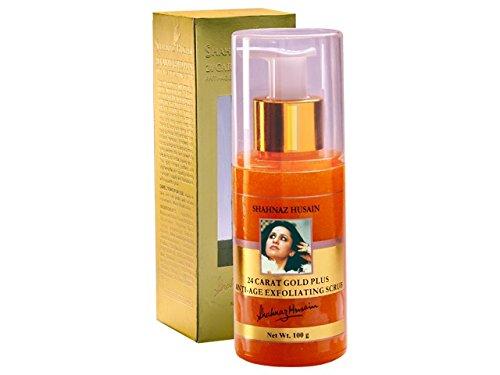 Shahnaz Husain 24 Carat Gold Anti-Age Exfoliating Scrub Women, 3.5 Ounce