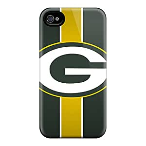 LavernaCooney Iphone 4/4s Shock Absorbent Hard Phone Cover Customized Beautiful Green Bay Packers Series [mRW10315yDhd]