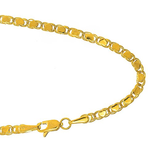 JewelStop 14k Yellow Gold 2.9 mm Heart Chain Baby Bracelet, Lobster Claw Clasp - 5.5'' by JewelStop