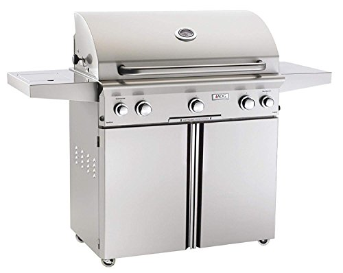 American Outdoor Grill 36NCL L-Series 36 inch Natural Gas Grill On Cart Side Burner Rotisserie Kit
