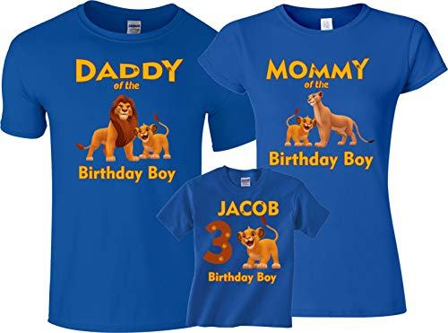 Birthday Boy Or Girl Lion King Mom dad Family Customized Shirts Onesie 24 Months ()