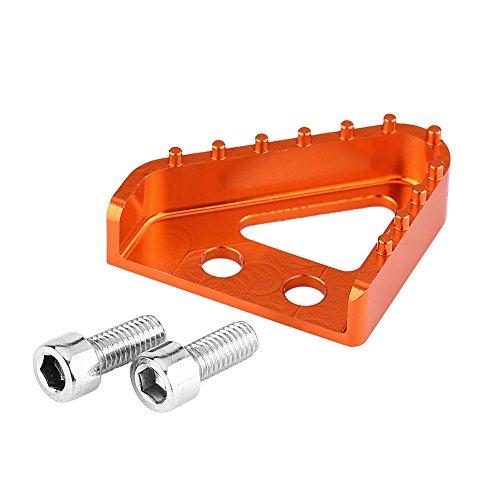 Rempedaal achter, motorfiets CNC rempedaal treeplank punt achter voor RC 125/200/390 690/990(oranje)