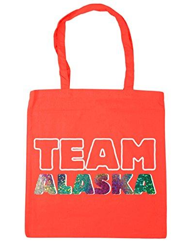 HippoWarehouse alaska Shopping Tote Team x38cm Gym 10 Coral Bag litres Beach 42cm 7w61wxaqr5