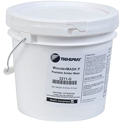 Techspray 2211-G Wondermask P, Solder Mask, Water Soluble, 1 Gallon