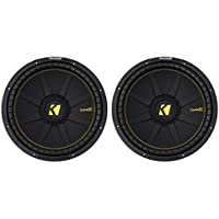 (2) KICKER 44CWCS154 CompC 15 2400w SVC 4-Ohm Car Audio Subwoofers Subs CWCS154