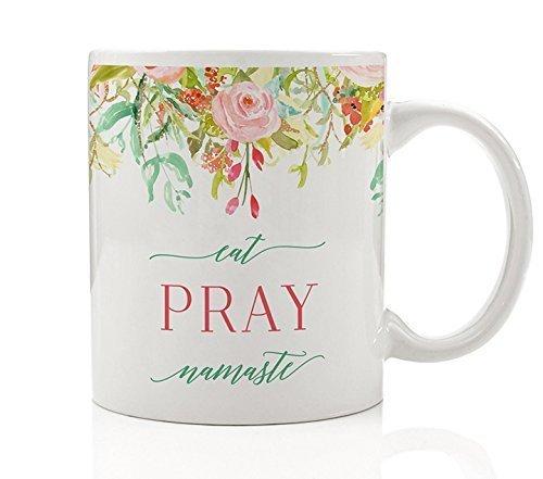 Eat Pray Namaste Coffee Mug Gift Idea Yoga Mindfulness ...