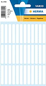 HERMA Multi-purpose labels 5x3mm white 252 pcs. - Etiqueta autoadhesiva (5 x 35 mm)