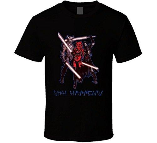 Darth Krayt Talon Star Wars Sith Happens T Shirt L Black