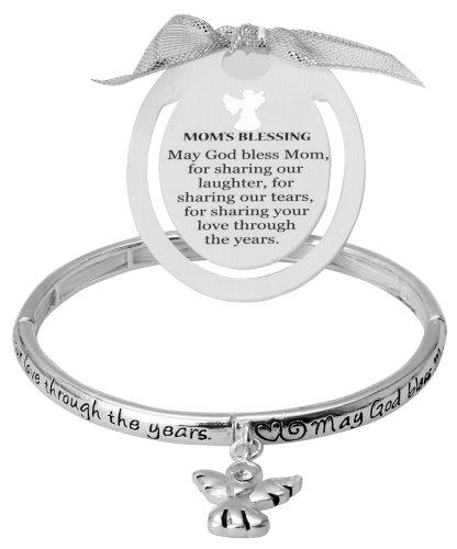 Jewelry Nexus Mom's Blessing Angel Charm Bracelet with Bookmark