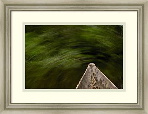 Framed Wall Art Print Dugout Canoe in Blackwater Stream Yasuni National Park Biosphere Reserve Amazon Rainforest Ecuado by Pete Oxford 17.75 x 13.75 (Best Wood For Dugout Canoe)