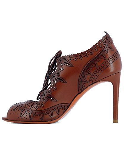 À Talons Cuir Marron Femme Chaussures WDGN56431HA2THYLM32 Santoni xwTP4X0q