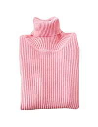 WDREAM Boys Girls Turtleneck Pullover Warm Solid Color Sweater Tops