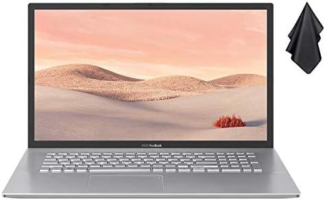 "2021 Newest ASUS VivoBook 17.3"" Thin and Light Laptop, FHD Display, Ryzen 3 3250U Processor, 8GB RAM, 512GB SSD, HD Webcam, HDMI, AMD Radeon Vega 3 Graphics, Transparent Silver, Win 10 + Oydisen Cloth WeeklyReviewer"