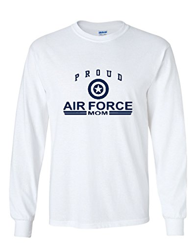 Proud Air Force Mom Long Sleeve T-Shirt US Air Force USAF White 2XL