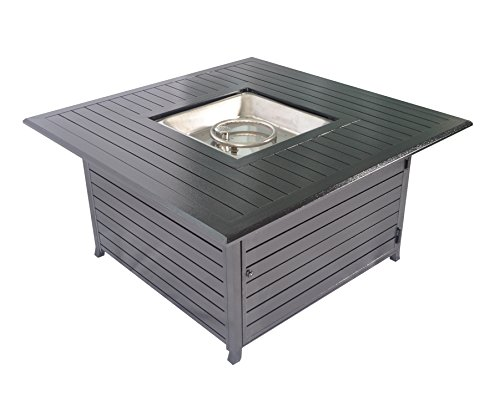 Legacy Heating Squre Fire Pit Table All Aluminum With