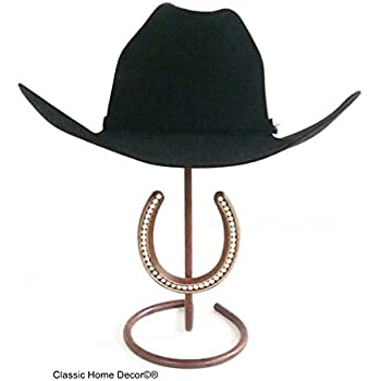 ccd2bbe6d02 Mark Christopher Collection American Made Cowboy Hat Stand with Rhinestone  Horseshoe CT