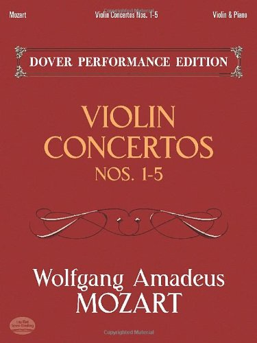 (Violin Concertos Nos. 1-5: with Separate Violin Part (Dover Chamber Music Scores))