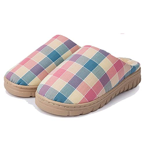 größe AMINSHAP Plaid A Baumwolle 37EU Farbe Home Weibliche Innenboden Home Day Hausschuhe Home Hausschuhe Haut 35 Paar A Winter Komfort Modelle rTqxSrn