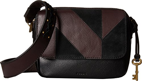 Fossil Women's Aria Small Crossbody Black Patchwork One Size