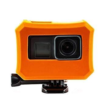 MadridGadgetStore® Flotador Boya Naranja Carcasa Funda Flotante Floaty para Cámara Videocámara Deportiva de Acción Go Pro GoPro HD Hero 7 6 5 Hero5 ...