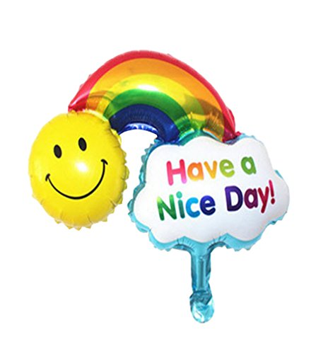 [Rainbow Foil Balloons Happy Birthday party air Balls inflatable Ballons lovely] (Dance Central Character Costumes)