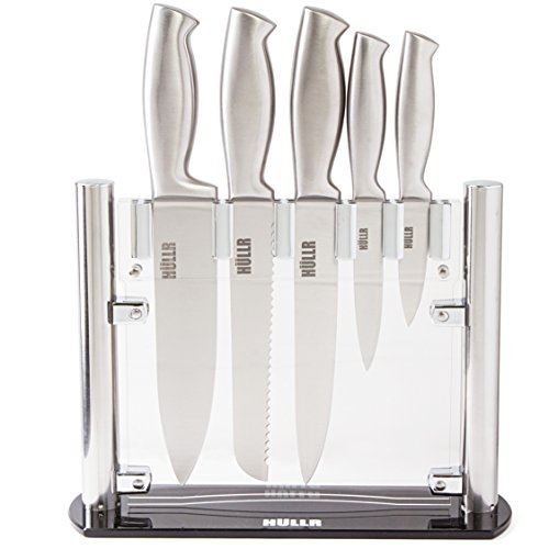 HULLR Stainless Steel Kitchen Knife Set With Acrylic Stand - 6 Piece set by HÜLLR