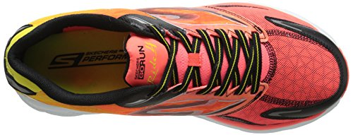 Skechers Performance Heren Go Run Ride 4 Hardloopschoen Oranje / Zwart