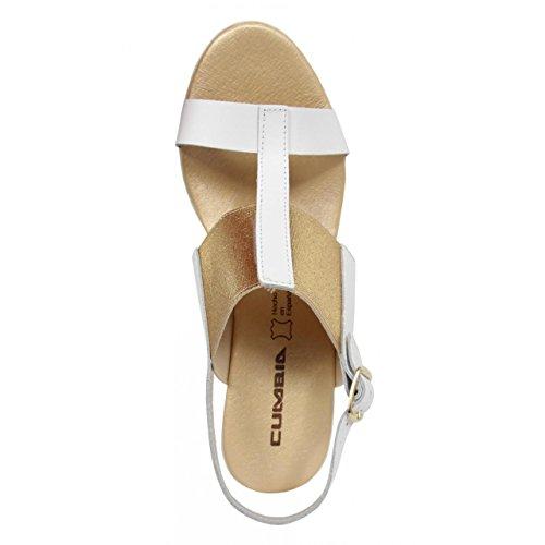 Chaussures compensées pour Femme CUMBIA 30133 BLANCO-ORO