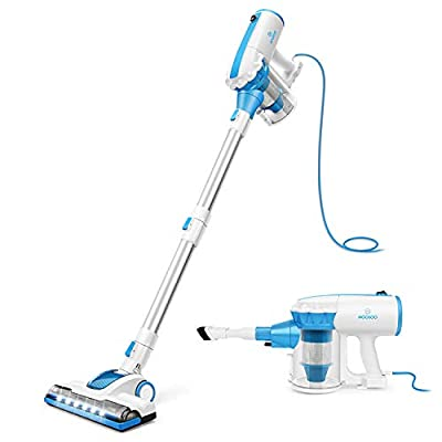 Vacuum Cleaner? MOOSOO 2 in 1 Stick Vacuum Cleaner Powerful 17000PA Moterized LED Brush Handheld Vacuum Cleaner, Captures Dusts, Debris, Crumbs, Pet Hairs from HardFloor, Carpet, Ceiling,D601
