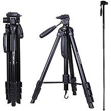 Camopro 70 Inch Tripod Professional Digital SLR Camera Aluminum Tripod Monopod for SLR DSLR Canon Nikon Sony DV Video with Carry Bag - Professional Tripod