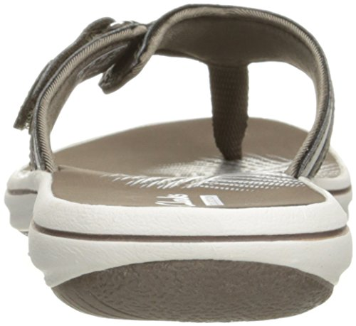 Clarks - Frauen Breeze Sea Flip Flop New Pewter Synthetic
