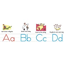 "Eureka Dr. Seuss Manuscript Alphabet Bulletin Board Set, 4 Panels 17 x 24"" Each"
