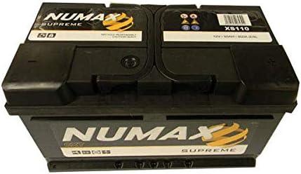 Numax Batterie Voitures Supreme XS110 LB4 12V 85AH 800 AMPS EN