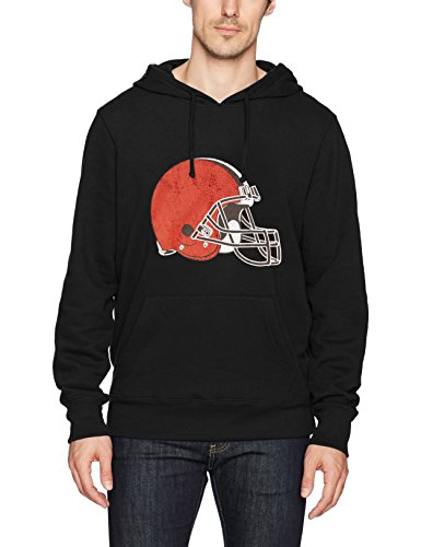 - NFL Cleveland Browns Men's OTS Fleece Hoodie, Distressed Logo, Large