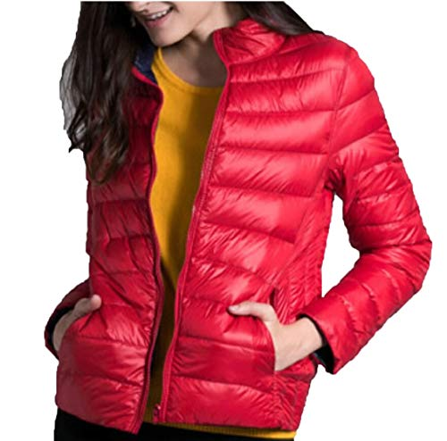 Gocgt Packable Ultra Short Women Hooded 2 Reversible Jackets Down Coat rZqYrwxOCU