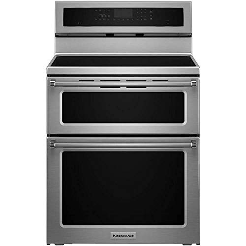 KitchenAid KFID500ESS 6.7 Cu. Ft. Self-Cleaning Freestanding Double Oven Electric Induction Convection Range Stainless Steel