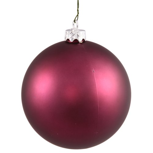 (Vickerman Matte Finish Seamless Shatterproof Christmas Ball Ornament, UV Resistant with Drilled Cap, 8
