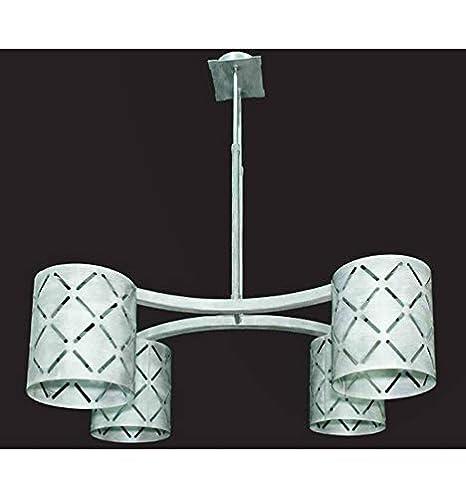 Forja Hispalense Lámpara de Techo Moderna Cube - Plata óxido ...