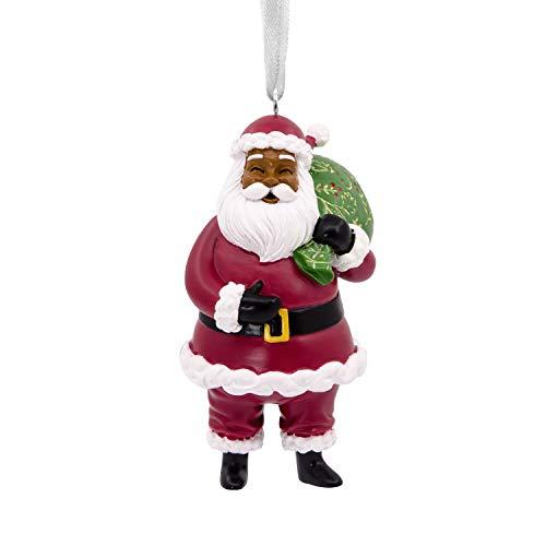 - Hallmark Christmas Ornaments, Hallmark Mahogany Jolly Santa Claus Ornament