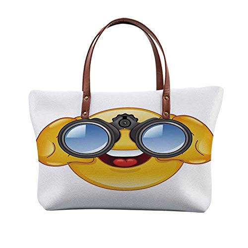 (Emoji Stylish Print Top Handle Bags,for Women,15.3