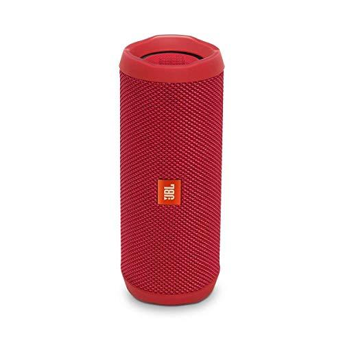 JBL Flip 4 Waterproof Portable Bluetooth Speaker – Red
