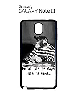 Monkey Playing Card Game Mobile Cell Phone Case Samsung Note 3 White