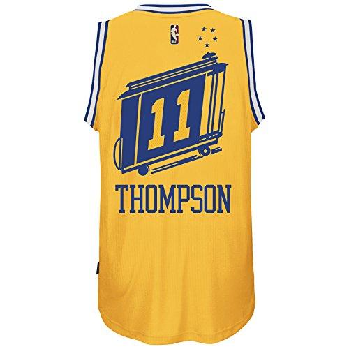 (Klay Thompson Golden State Warriors Adidas Hardwood Classics Nights Swingman Jersey (Gold) 2XL)