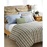 Ralph Lauren Boathouse King Duvet Madras Plaid