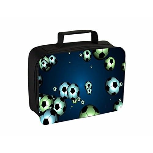 Soccer Balls On Blue Jacks Outlet TM Travel Toiletry Bag with Hanger
