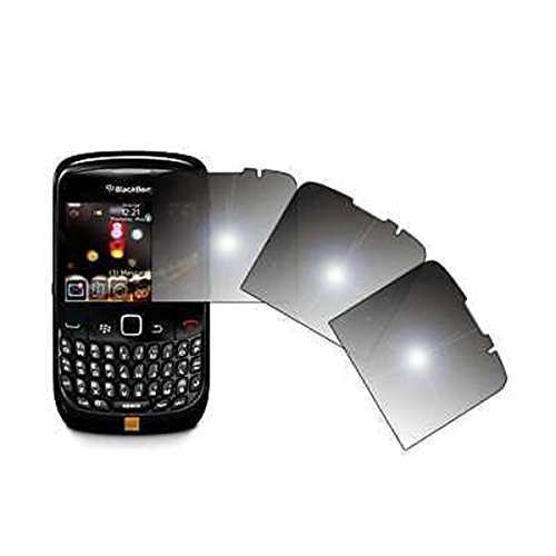 Premium Reusable LCD Mirror Screen Protectors for Blackberry Curve 8520 Pack of 3 pcs ()