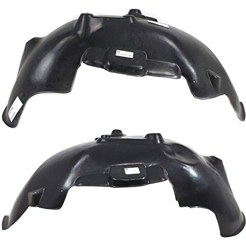 Splash Shield Front Left and Right Side Fender Liner Set of 2 Plastic for DODGE FULL SIZE P/U 02-09 New Body Style ()