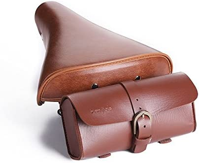 Retro Bicycle Tail Bag PU Leather Cycling Bag Bike Saddle Bag Tail Pouch Package
