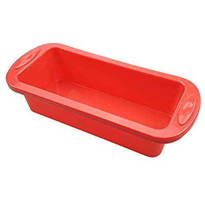 Silicone Bread Loaf Pan, SILIVO Rectangle Cake Pan Baking Mould 8.9 x 3.7-Inches Non-Stick Bakeware Perfect for Soap, Bread, Pie, Chocolate, Pizza, Cake FDA-Approved BPA free Microwave Dishwasher safe